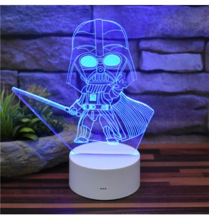 Lámpara de escritorio LED Q Darth Vader